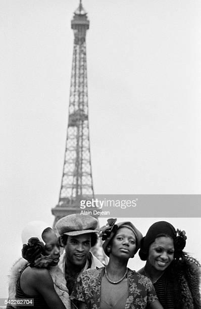 Disco Group Boney M by Eiffel Tower