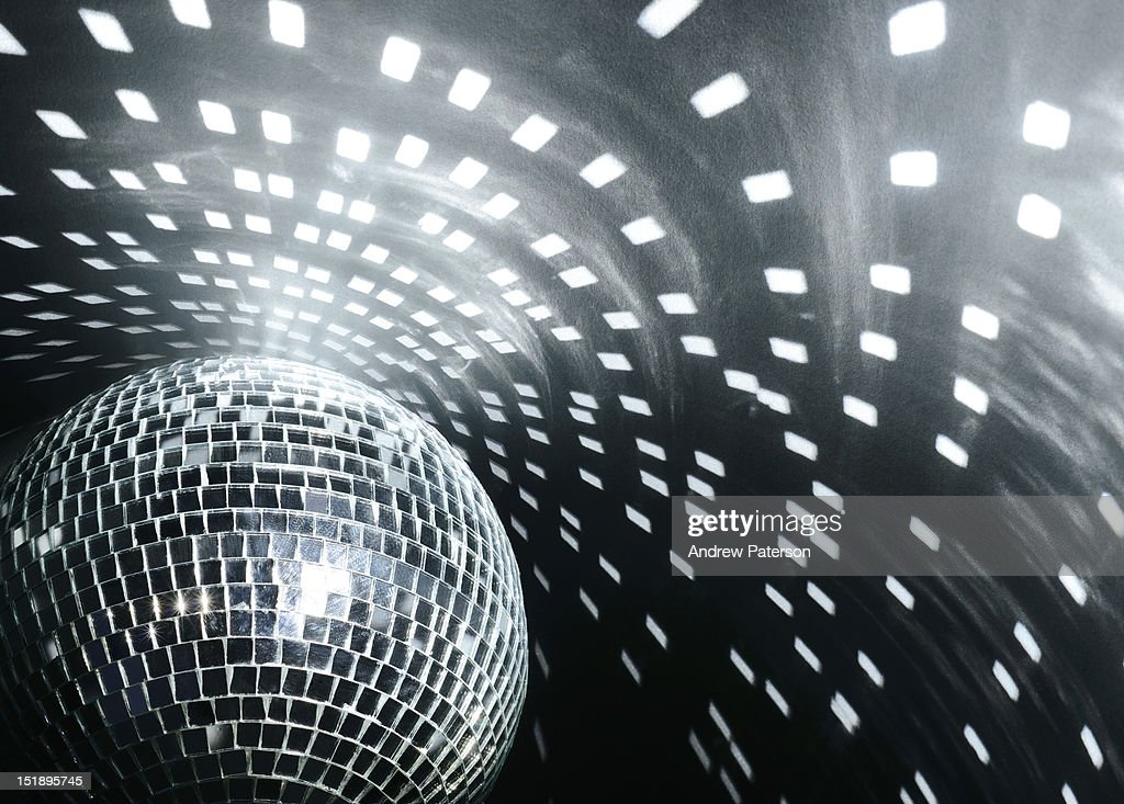 Disco mirror ball and reflections : Stock Photo