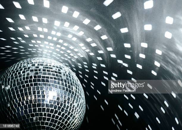 Disco mirror ball and reflections