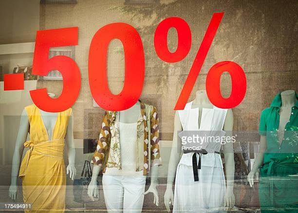 Discount On Window Of Boutique