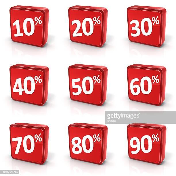 Discount Sale Symbols Set