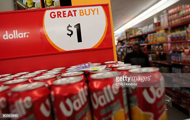 A discount store sells soda for one dollar a sixpack April 7 2008 in Ontario California With an economic downturn looming in the US consumers are...
