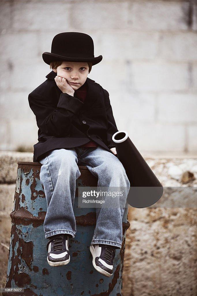 Discouraged Little Salesman