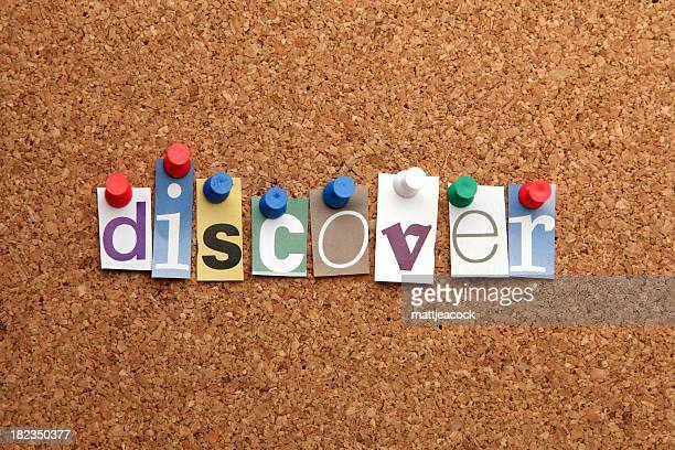 """""""descubrir"""" word pinned en noticeboard"""