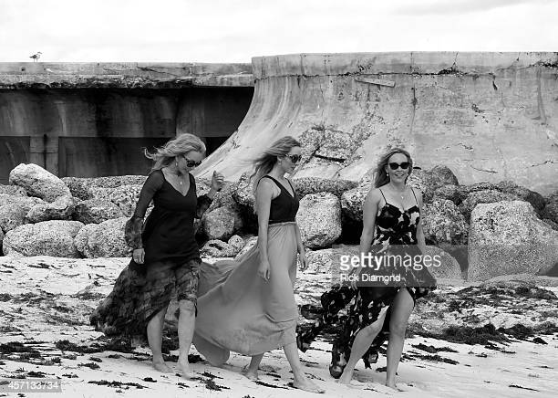 Discovering Lucy Angel filming and portrait session L/R Kate Anderton Emily Anderton and Lindsay Anderton at Atlantis Paradise Island on October 12...