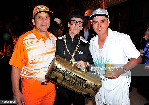 Discovery Land Company CEO Mike Meldman producer Brian Grazer and pro golfer Rickie Fowler attend the Casamigos Tequila halloween party at a private...