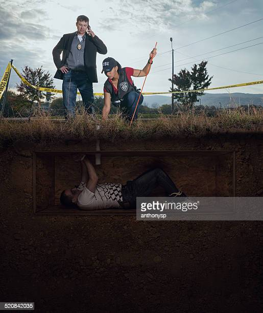 CSI discovery of a male victim buried alive