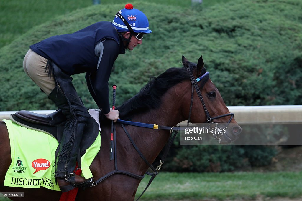 Discreetness trains on the track for the Kentucky Derby at Churchill Downs on May 03, 2016 in Louisville, Kentucky.