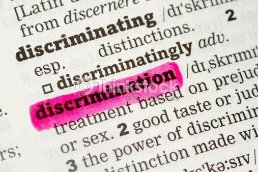 Discrimination  Dictionary Definition : Stock Photo
