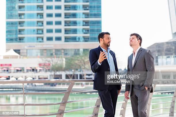 Discussing business in Dubai