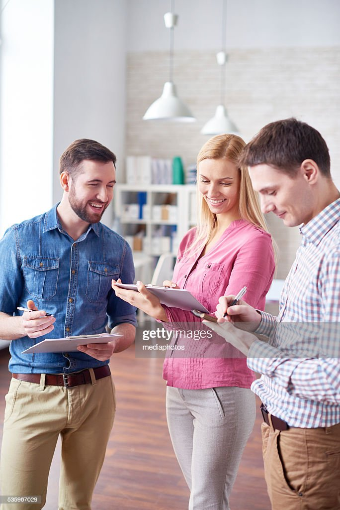 Discussing ideas : Stock Photo