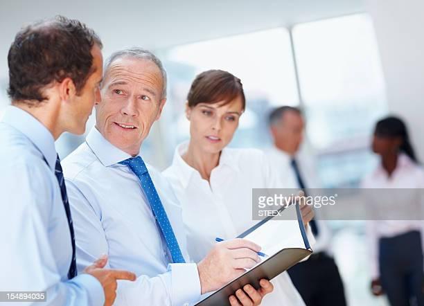 CEO über Pläne mit Führungskräften