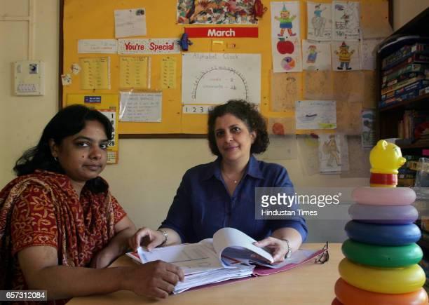 Diseases Nassarat Khan and Kate Kurrawala at Maharashtra Dyslexia Association Parel