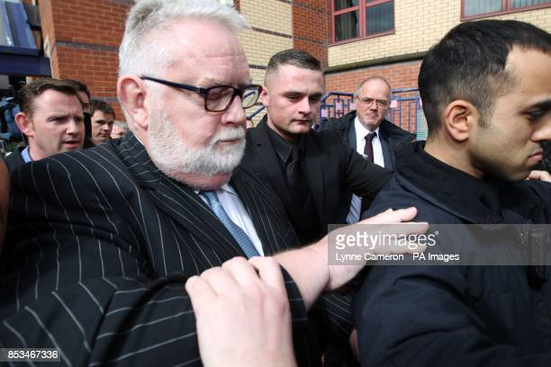 Disgraced former Cooperative Bank boss Paul Flowers leaves Leeds Magistrates' Court where he pleaded guilty to two counts of possession of class A...