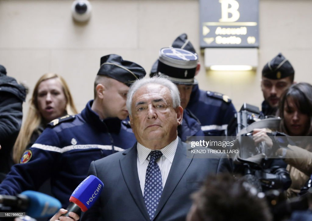 Disgraced former IMF chief Dominique Strauss-Kahn leaves Paris courthouse after attending a hearing regarding his seizure request of the new book by Argentinian-born Marcela Iacub detailing their l...
