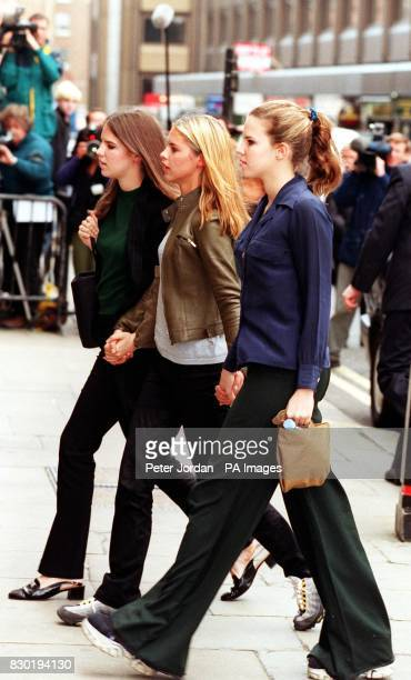 Disgraced former Tory cabinet Minister Jonathan Aitken's daughters arrive at the Old Bailey where their father is due to be sentenced for perjury His...