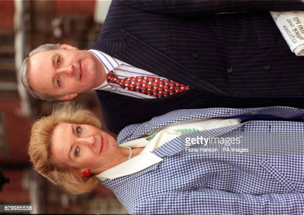 Disgraced former Tory MP Neil Hamilton and his wife Christine pose for the media in London today in the wake of claims that Martin Bell MP the man...