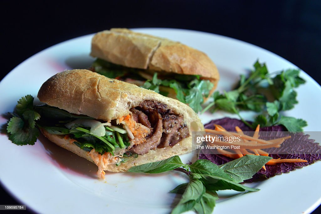 A dish of banh mi with grilled pork is on display at Hanoi House, a restaurant at the intersection of 14th and U Streets NW, on Thursday, December 27, 2012, in Washington, DC.