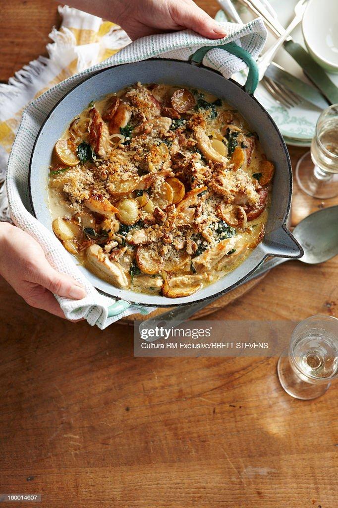 Dish of chicken fricassee