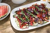 Dish of mediterranean vegetables