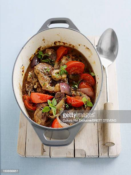 Dish of osso buco stew
