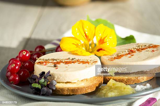 Dish of spiced Foie gras on toast