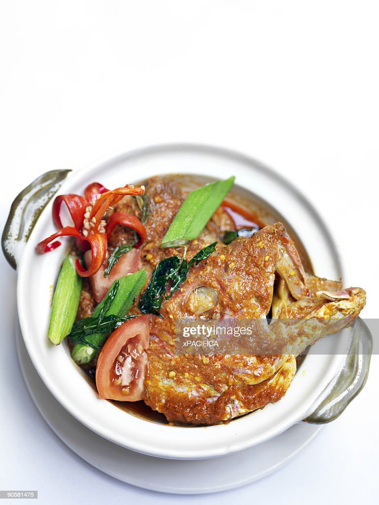 A dish of the famous fish-head curry. : Stock Photo