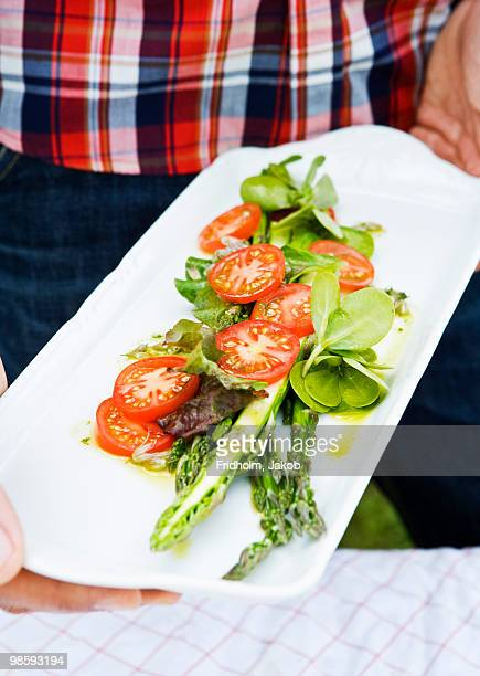 A dish with ecological vegetables, Sweden.