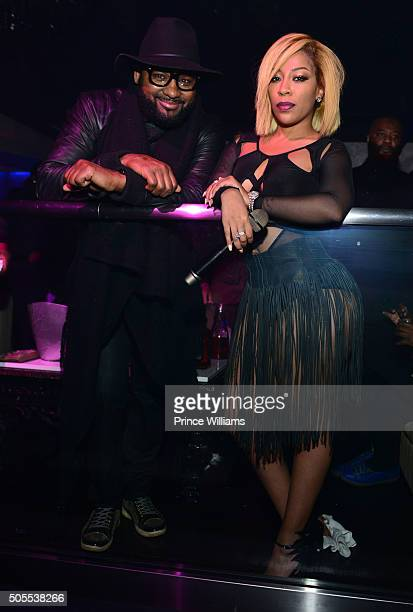 Dishaun Stewart and K Michelle attend Prive on January 16 2016 in Atlanta Georgia