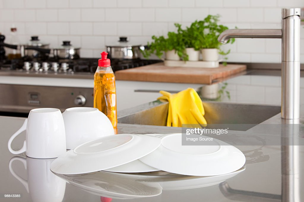 Dishes and sink