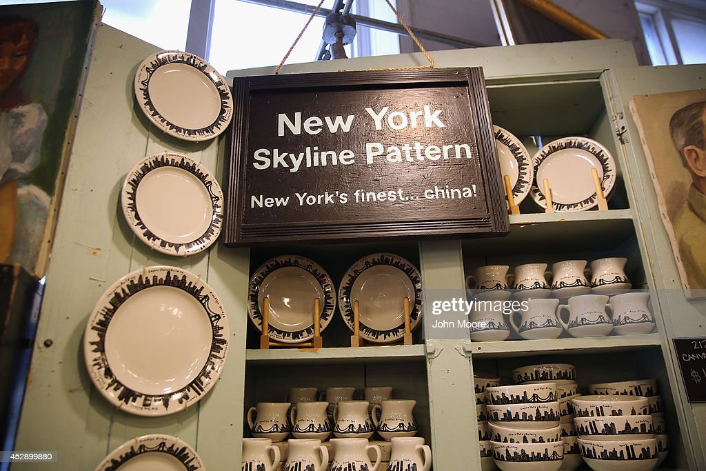 Dishes from the '212 New York Skyline' collection sit on a display shelf at Fishs Eddy, a well-known housewares store on Broadway and 19th St. in Manhattan on July 29, 2014 in New York City. The Port Authority of New York and New Jersey has accused the shop of 'unfairly reaping a benefit from an association with the Port Authority and the attack' of September 11. The Authority has asked the store to stop selling anything with these 'assets' on them, such as the Twin Towers, One World Trade Center and the Lincoln and Holland tunnels.