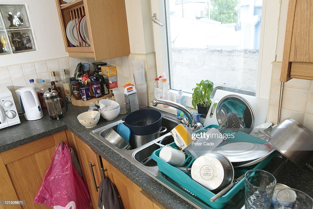 dishes in kitchen : Stock Photo