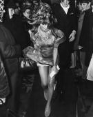 A dishevelled Julie Christie arrives at the royal film premiere of 'Far from The Madding Crowd' at the Odeon Leicester Square London 16th October 1967