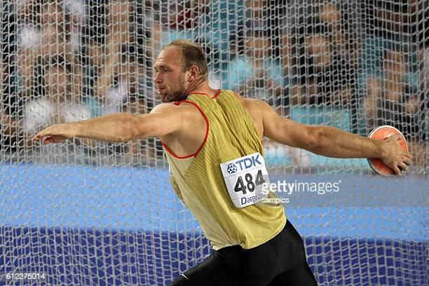 Diskus Diskuswerfen Weltmeister Robert Harting GER world Champion IAAF Leichtathletik WM Weltmeisterschaft in Daegu Sudkores 2011 IAAF world...