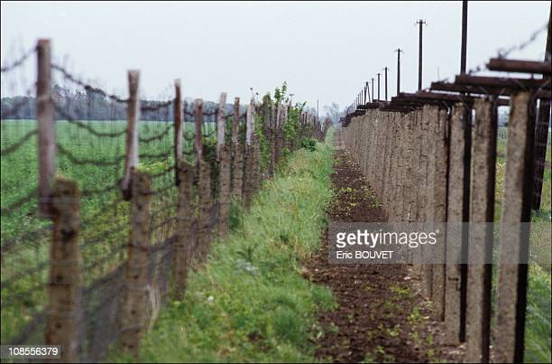 Dismantling the iron curtain in Hungary on May 01st 1989
