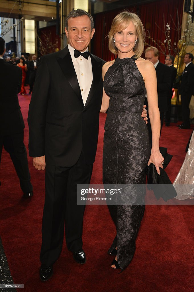 Disney Chairman Bob Iger and wife, Willow Bay, arrive at the Oscars at Hollywood & Highland Center on February 24, 2013 in Hollywood, California.