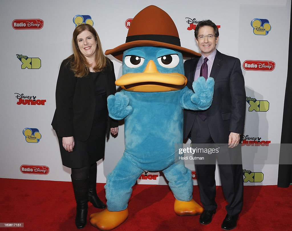 CORPORATE - Disney Channel and Disney XD stars and executives arrive at Disney's Kids Upfront 2013-14 at the Hudson Theatre at Millennium Broadway Hotel in New York (March 12). , PERRY THE PLATYPUS, GARY MARSH