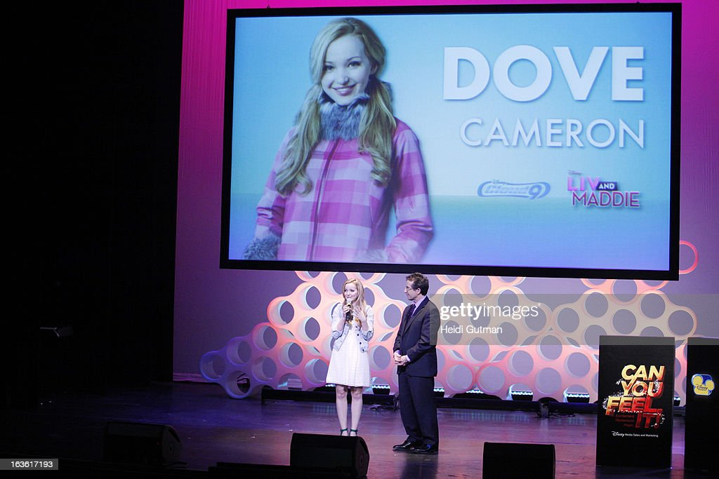 CORPORATE - Disney Channel and Disney XD stars at Disney's Kids Upfront 2013-14 at the Hudson Theatre at Millennium Broadway Hotel in New York (March 12). DOVE
