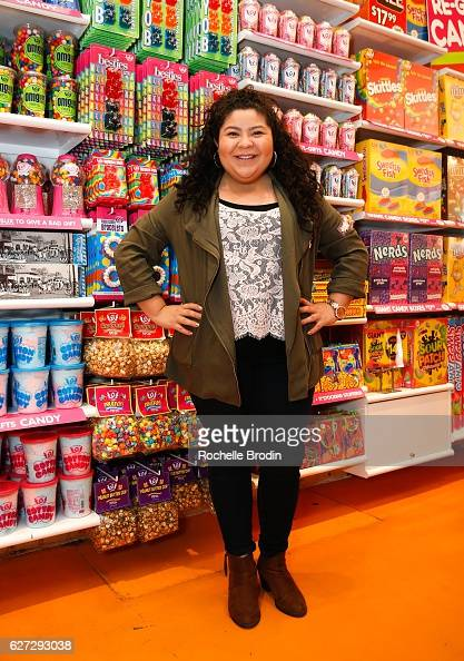 Disney Channel star and organization supporter Raini Rodriguez attends the Raini Rodriguez Presents IT'SUGAR Check To Lollipop Theater Network at...