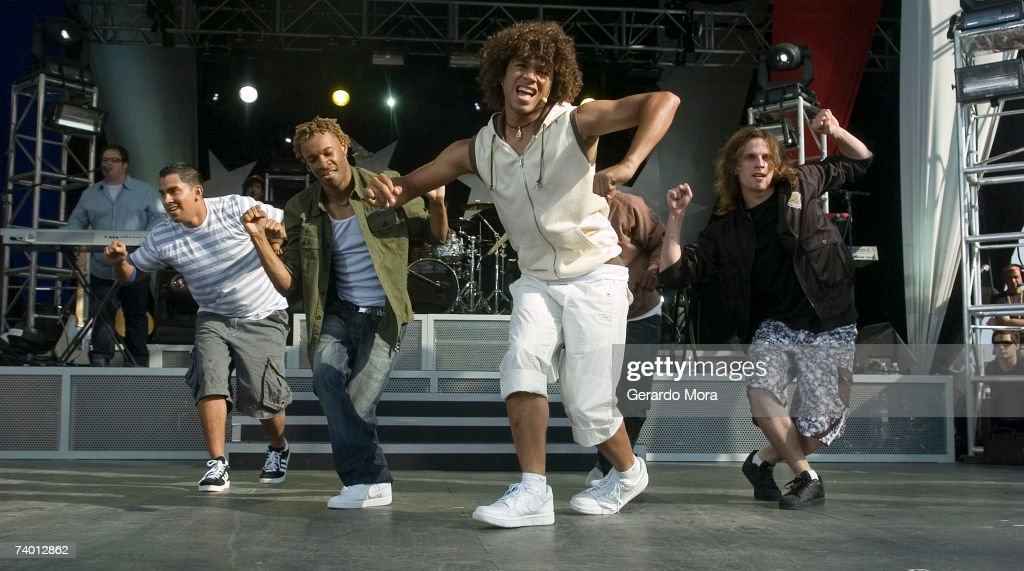 Disney Channel star Corbin Blue performs during the Disney Channel Games 2007 Concert at The Ballpark at Disney's Wide World of Sports Complex on...