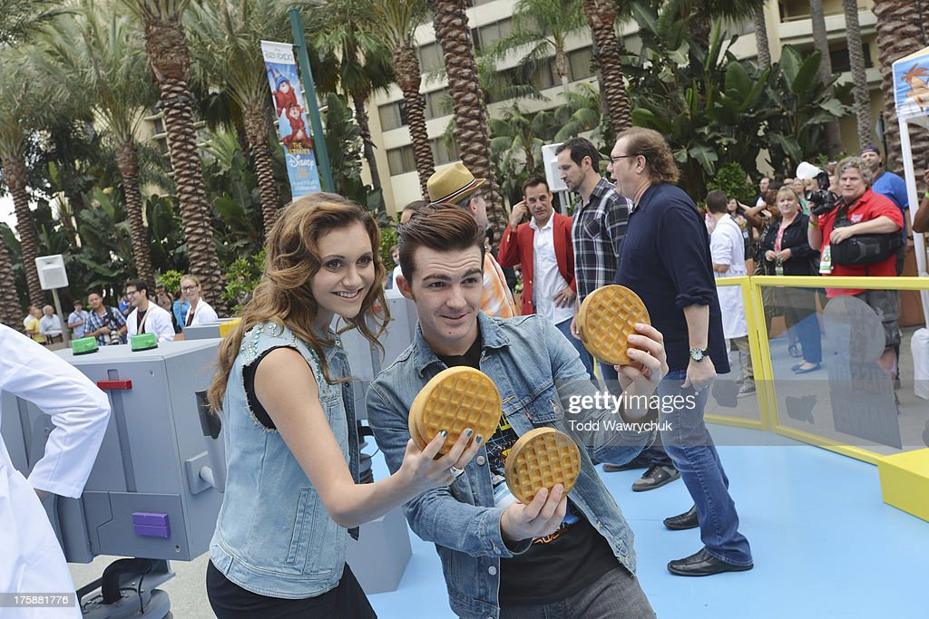 D23 EXPO - Disney Channel unveils Dr. Doofenshmirtz's most wacky '-inator' yet -- 'The Waffle-inator' -- a spectacular 40-foot high interactive game, combining physical and digital worlds -- and rapid-flying waffles -- in an epic showdown to free Agent P from the clutches of Dr. Doofenshmirtz, at Disney's D23 Expo, the ultimate event for Disney fans at the Anaheim Convention Center in Anaheim, California (August 9). 'The Waffle-inator' celebrates the TV crossover special, 'Phineas and Ferb: Mission Marvel,' premiering FRIDAY, AUGUST 16 at 8:00 ET/PT on Disney Channel. Joining the celebration were (Phineas and Ferb or Spider-Man and Iron Man) characters, stars Dan Povenmire (creator/executive producer & 'Dr. Doofenshmirtz'), Swampy Marsh (creator/executive producer & 'Major Monogram'), Vincent Martella ('Phineas'), Alyson Stoner ('Isabella');Marvel Universe stars Drake Bell ('Spider-Man'), Adrian Pasdar ('Iron Man'), Fred Tatasciore ('Hulk') and Travis Willingham ('Thor'). BELL