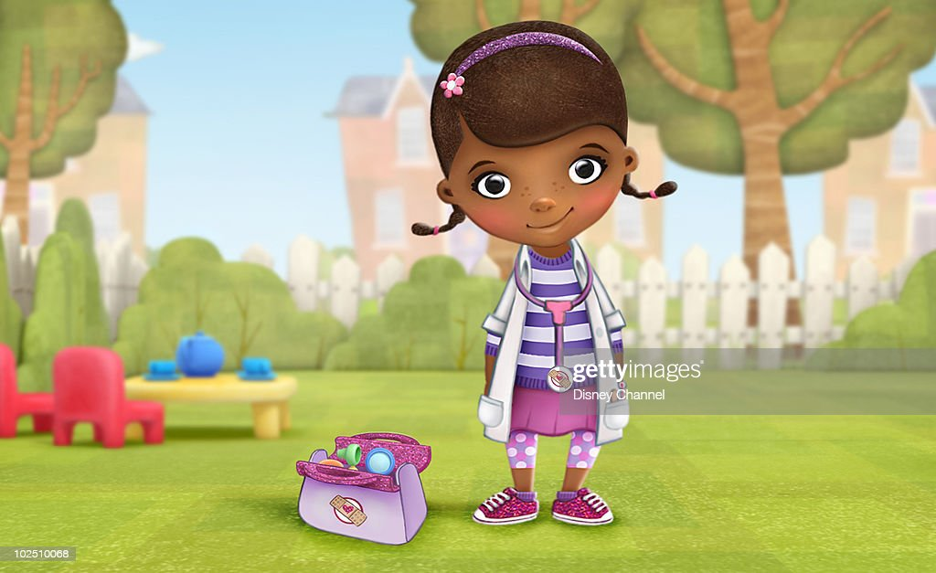 DOC MCSTUFFINS - Disney Channel's 'Doc McStuffins,' an new animated series for preschoolers, is about six-year-old Dottie 'Doc' McStuffins who communicates with and heals stuffed animals and toys out of her backyard clinic. The imaginative series, with an emphasis on healthy living, will highlight the importance of taking care of oneself and others. 'Doc McStuffins' is slated for a 2011 premiere on the soon to be branded Disney Junior blocks on Disney Channel, and Disney Junior channels around the world. (Photo by Disney Channel/Disney Channel via Getty Images) DOTTIE 'DOC' MCSTUFFINS