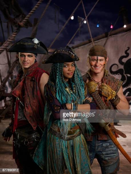 DESCENDANTS 2 Disney Channel's original movie 'Descendants 2' stars Thomas Doherty stars as Harry China Anne McClain as Uma and Dylan Playfair as Gil...
