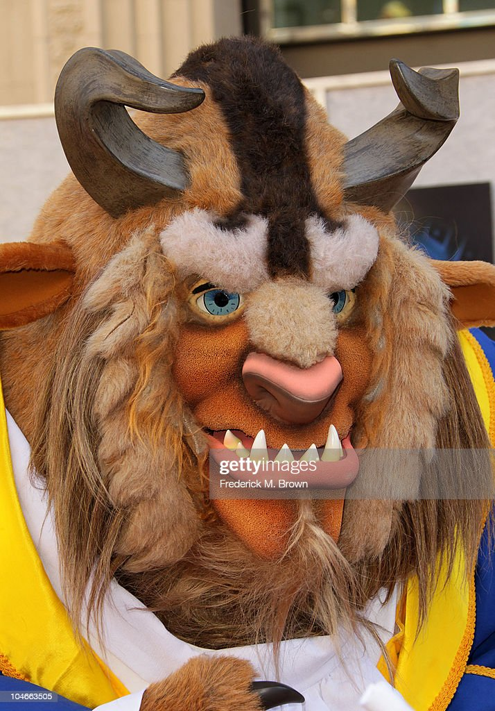 Disney character 'Beast' attends the 'Beauty and the Beast' SingALong DVD premiere at the El Capitan theater on October 2 2010 in Los Angeles...