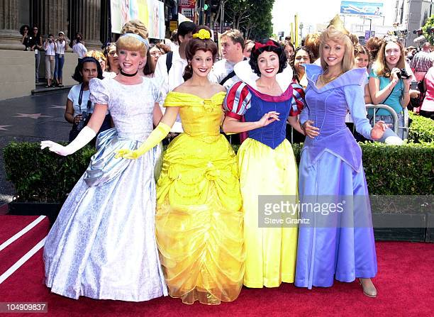 Disney Characters during The Princess Diaries Premiere at El Capitan Theatre in Hollywood California United States
