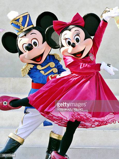 Disney characters Mickey and Minnie Mouse put on a dance performance in the motif of Chaikovski's ballet 'The Nutcracker' at Tokyo DisneySea 07...