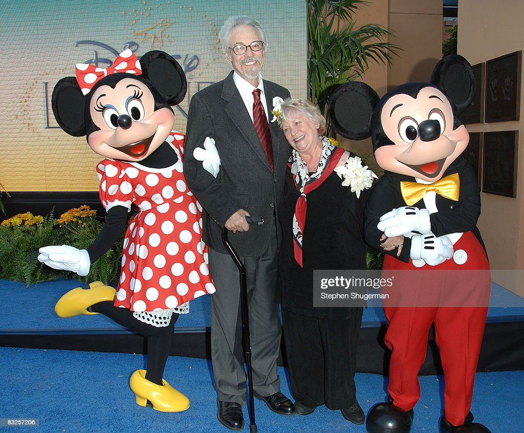 Disney charactor Minnie Mouse, the voice of Mickey Mouse & Disney Legend Honoree Wayne Allwine, the voice of Minnie Mouse & Disney Legend Honoree (also Mr. Allwine's wife) Russi Taylor and Disney charactor Mickey Mouse attend the 2008 Disney Legends Ceremony at the Walt Disney Studios on October 13, 2008 in Burbank, California.