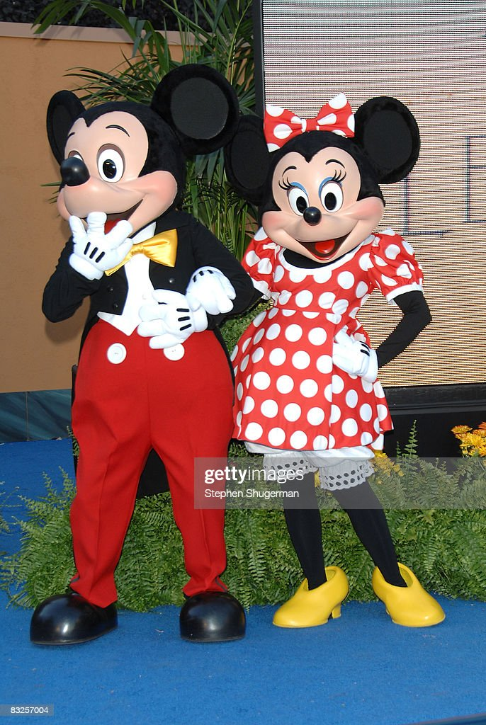Disney charactors Mickey Mouse and Minnie Mouse attend the 2008 Disney Legends Ceremony at the Walt Disney Studios on October 13, 2008 in Burbank, California.