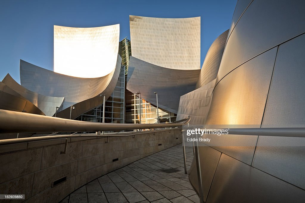 Disney Concert Hall designed by Frank Gehry. : Stock Photo