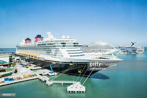 Disney cruise ship docked in Port Canaveral, Florida